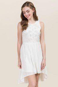 palmer lace open back dress