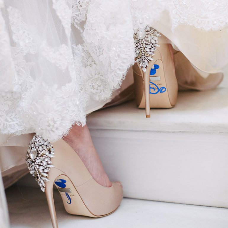 Wedding shoes with Disney decals