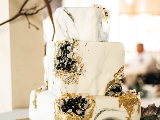 This Modern Bohemian Geode Wedding Rocks!
