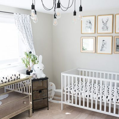 Modern Black and White Nursery for Baby Jona