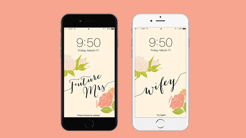 Future Mrs. + Wifey Wallpaper
