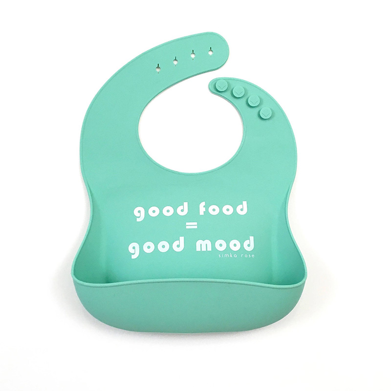 Good food equals good moon silicone bibs