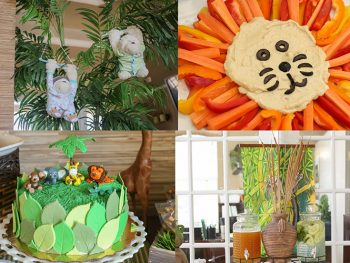 Highlights from a safari inspired baby shower