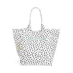Large spotted beach diaper bag