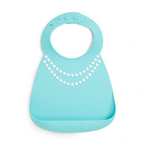 Pearl necklace silicone bib