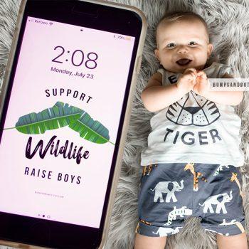 Support Wildlife Raise Boys Wallpaper Download