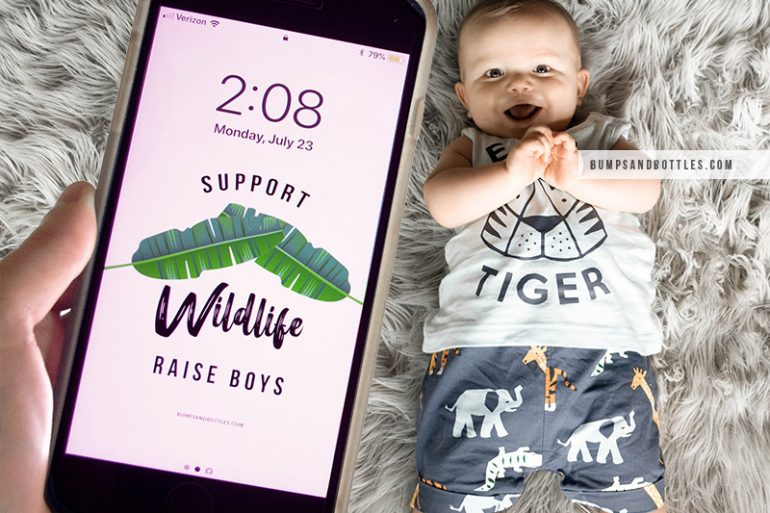 Support Wildlife Raise Boys wallpaper download