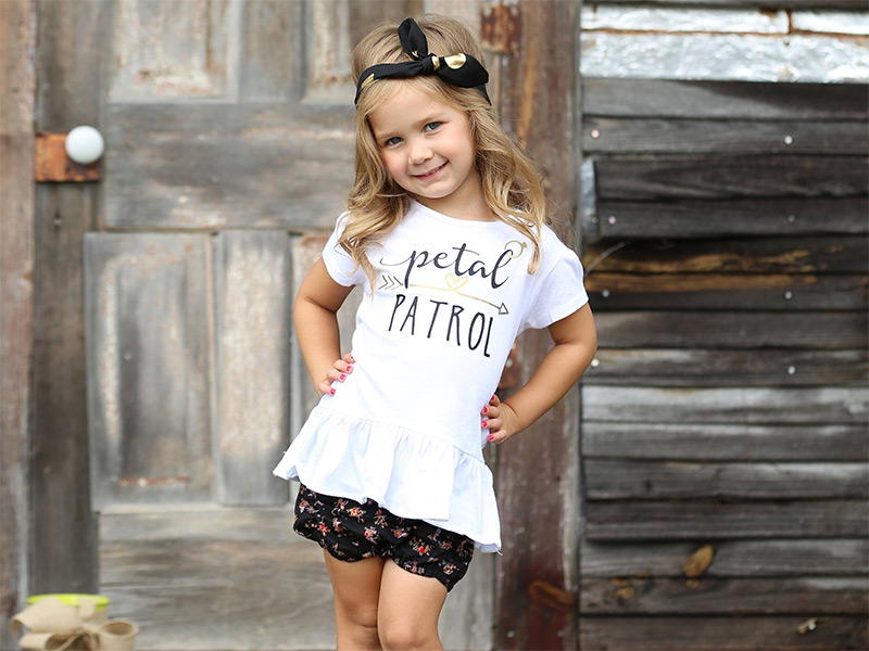 Petal Patrol flower girl shirt