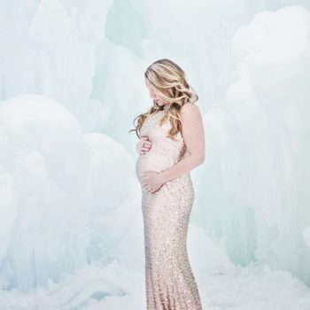 Ice Castle Maternity Session