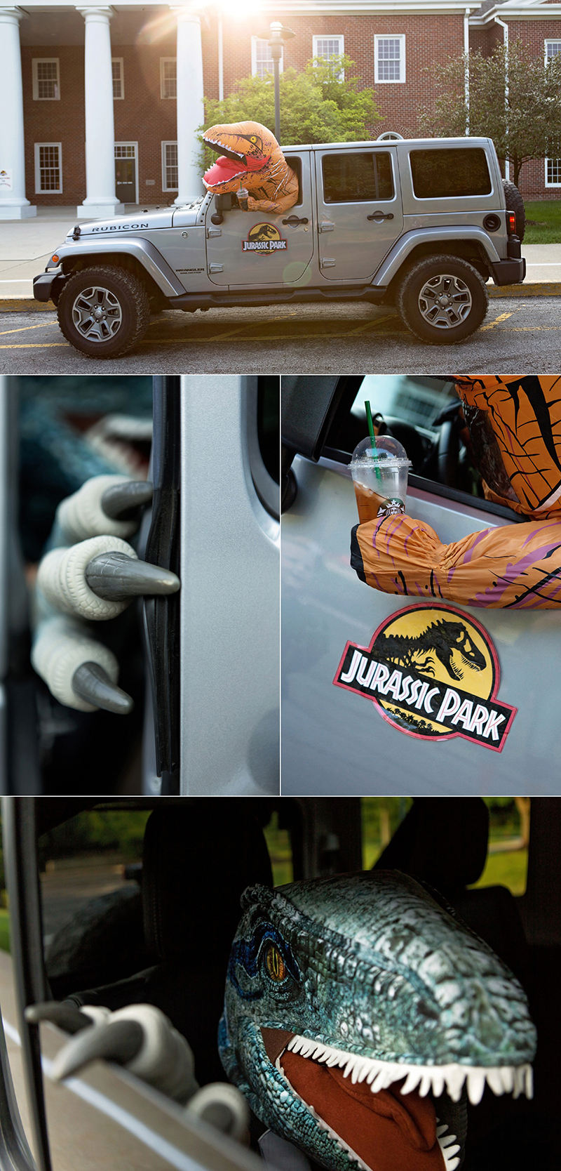 Jurassic Park Back to School photoshoot