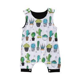 Baby boy cactus romper