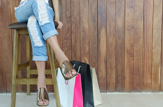 Girl shopping 2018 labor day sales