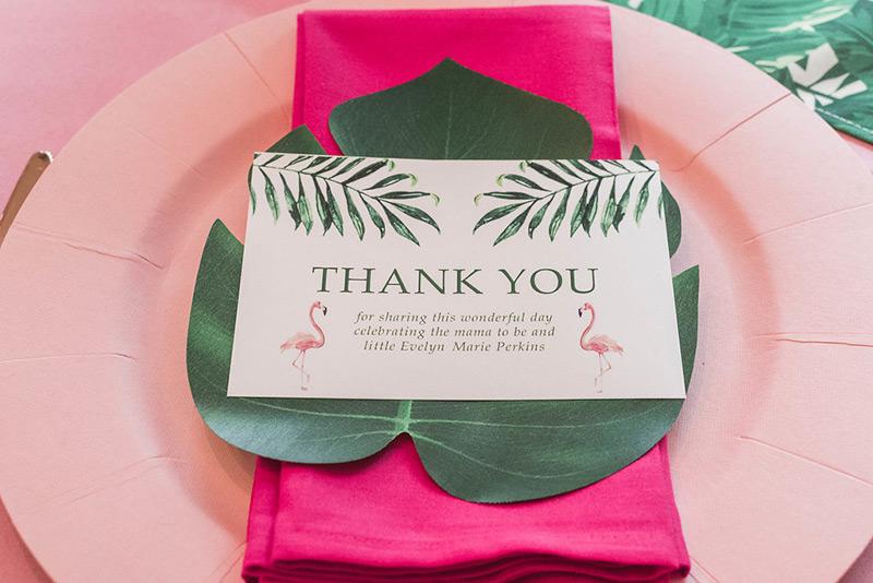 Flamingo thank you cards