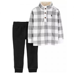 2 Pc Fleece Pullover + Pant Set