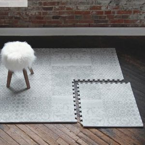 Little Nomad Feather Play Mat (Gray)