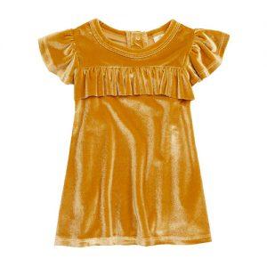 Velvet Ruffle Dress