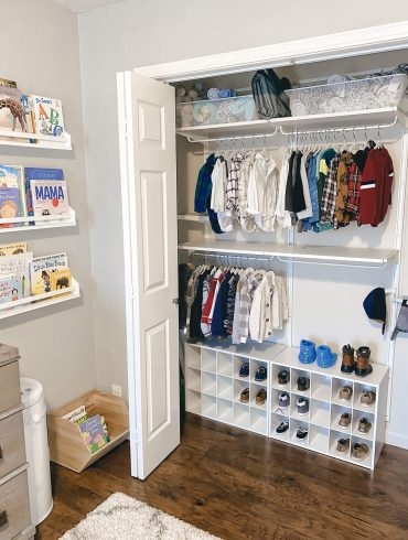 Algot closet system from IKEA