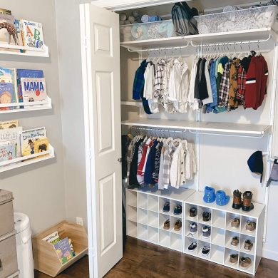Algot closet system from IKEA